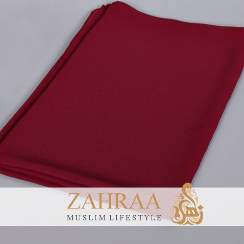 Shawl Chiffon Dark Red
