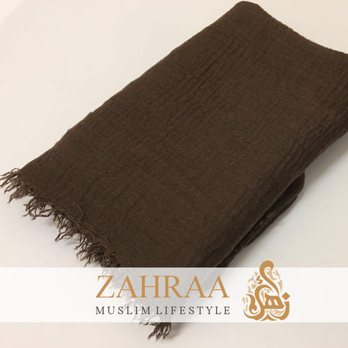 Crinkle Shawl Maxi Dark Brown