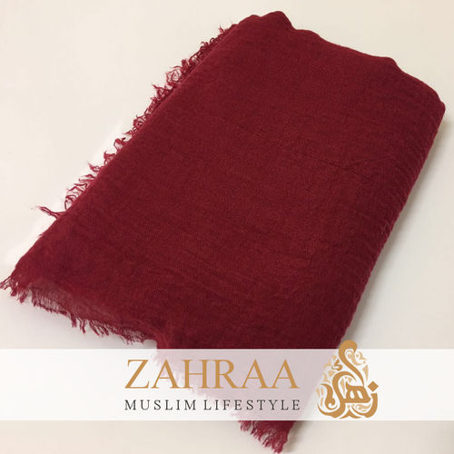 Crinkle Shawl Maxi Dark Red