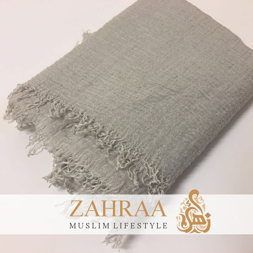 Crinkle Shawl Maxi Light Grey