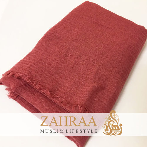 Crinkle Shawl Maxi Brick Red