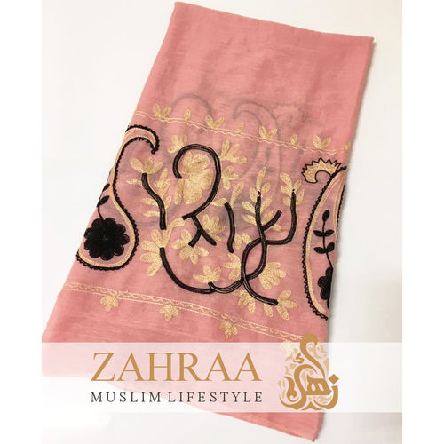 Schal Madia Embroidery Rosa