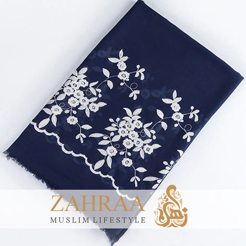 Shawl Marina Embroidery Dark Blue