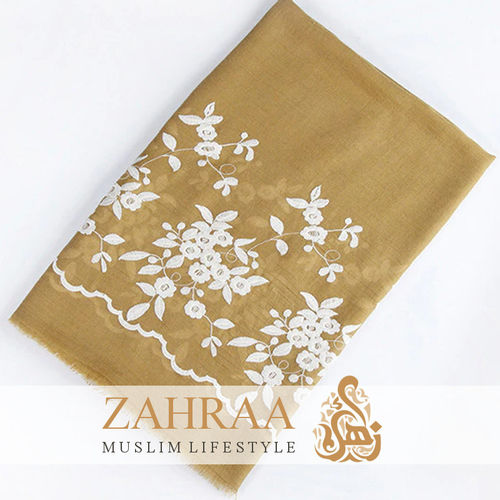 Shawl Marina Embroidery Yellow