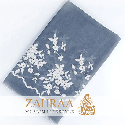 Shawl Marina Embroidery Jeans Blue