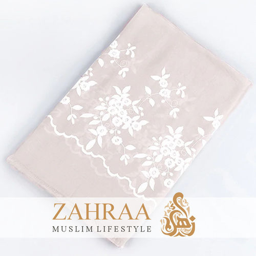 Shawl Marina Embroidery Light Beige